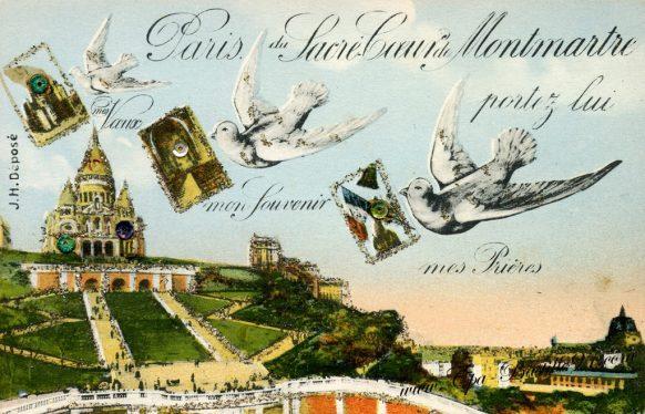 Carte Postale Ancienne - Paris du sacré Coeur de Montmartre