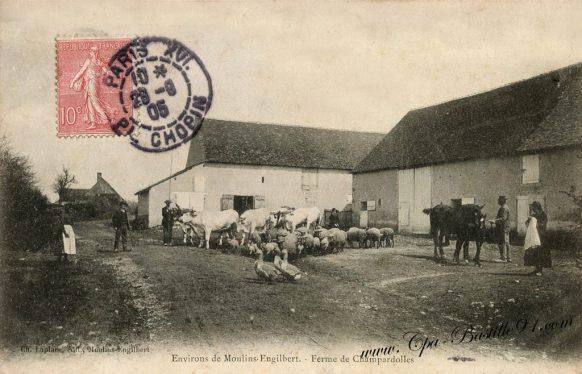 Carte postale Anciennes - La ferme de Champardolles dans les environs de-Moulins engilbert