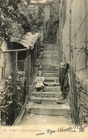 Cartes Postales Anciennes - Paris Vieux Montmartre - Le Maquis