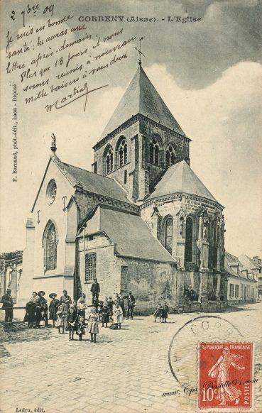 Carte Postale Ancienne - Corbeny l'église