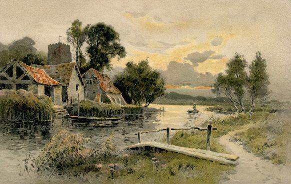 Carte Postale Ancienne - La maison sur le lac