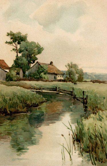 Carte Postale Ancienne - la petite rivière