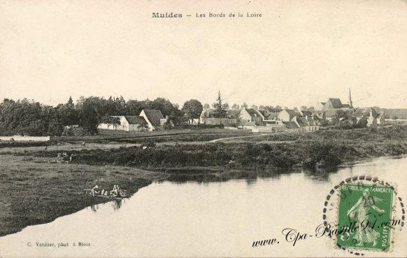 Carte Postale Ancienne de Muides et les bords de la Loire