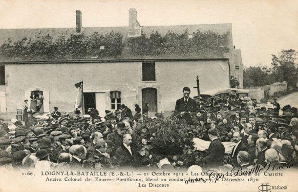 Carte Postale Ancienne - Loigny-la-Bataille - Les Obseques du général de charrette