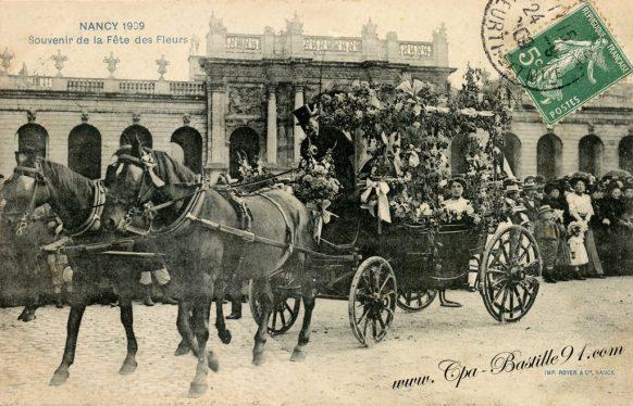 Carte Postale Ancienne de Nancy en 1909 - Souvenir de la fête des fleurs