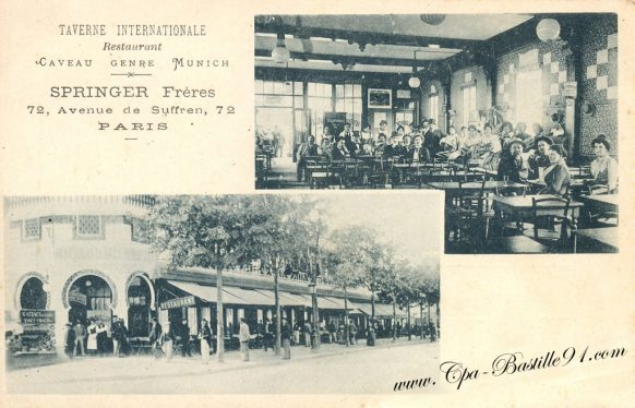 Carte Postale Ancienne - Paris - Taverne Internationale Springer