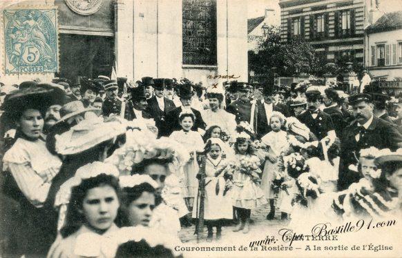 Carte Postale Ancienne de Nanterre - Le couronnement de la Rosière