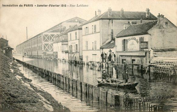 Inondation de paris en Janvier et Février 1910 - Rue leblanc