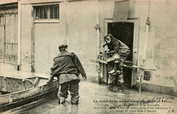 Crue de la Seine le 29 Janvier 1910