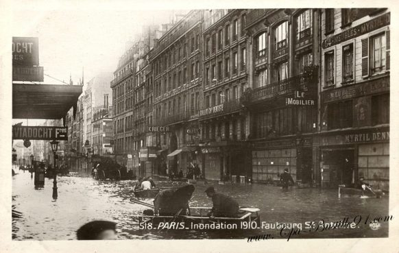 Cartes postales Anciennes - Paris - Inondation 1910 du Faubourg Saint Antoine