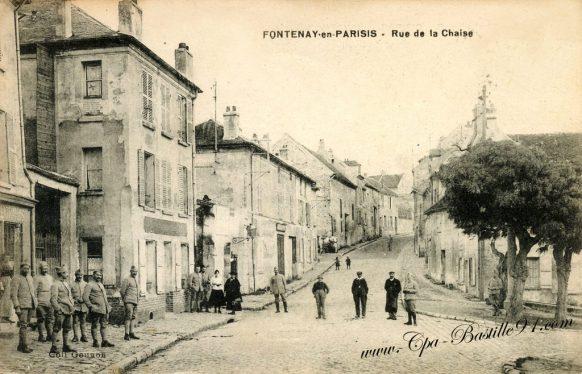 Carte-Postale-Ancienne-Fontenay-en-Parissis-rue-de-la-Chaise