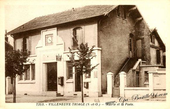 Carte Postale Ancienne de Villeneuve Triage - La marie et la poste