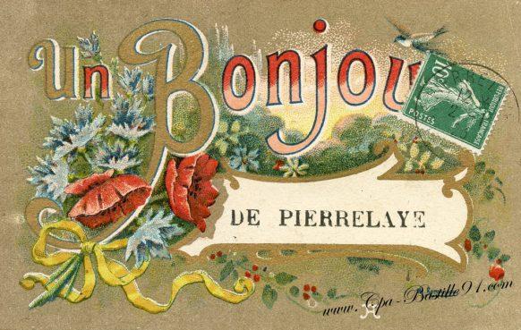 Cartes postales Anciennes - Un Bonjour de Pierrelaye