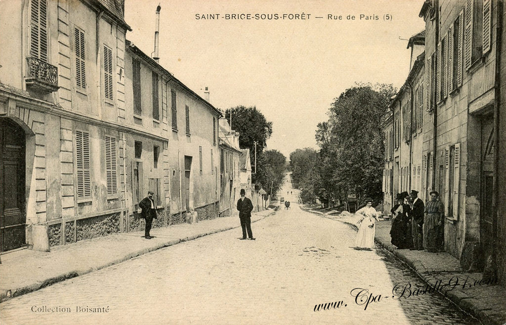 carte postale ancienne de saint brice sous for t rue de. Black Bedroom Furniture Sets. Home Design Ideas