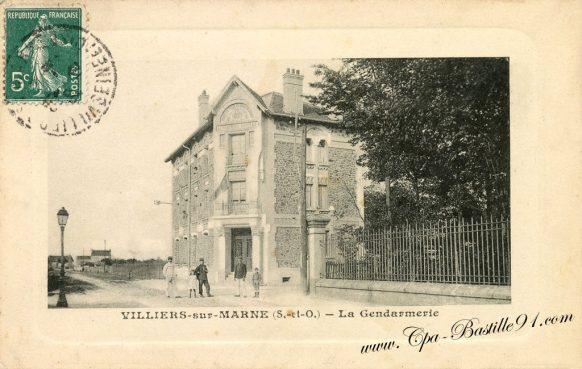 Carte Postale Ancienne de Villiers sur Marne - La gendarmerie