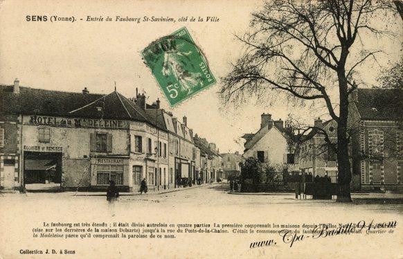 Cartes postales Anciennes - Sens entrée du Faubourg st Savinien coté de la ville