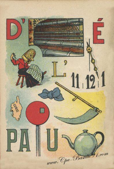 Carte Postale Ancienne – Jeux de rébus