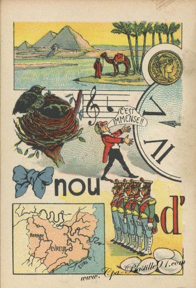 Carte Postale Ancienne - Jeux de rébus