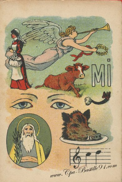 Cartes Postales Anciennes – Jeux de rébus