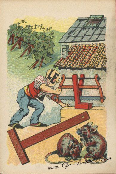 Carte Postale Ancienne – Jeux de rébus –