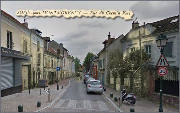 Soisy-sous-Montmorency-rue-du-chemin-vert-jean-mermoz d'hier à Aujourd'hu