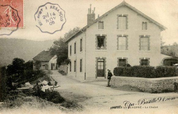 Carte Postale Ancienne - Roche lez Beaupré - Le Chalet - Le Chalet