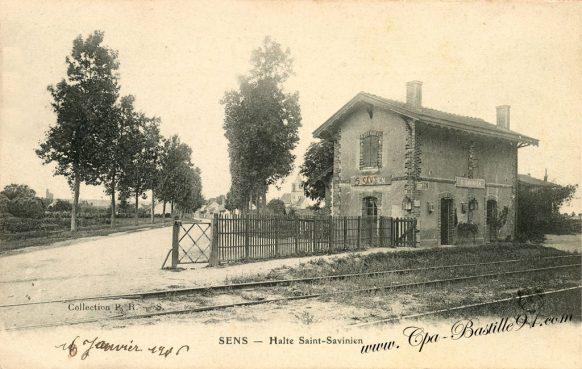 Carte Postale Ancienne - Sens - Halte Saint Savinien