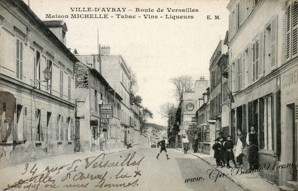 Carte Postale Ancienne - Ville-d'Avray - Route de Versailles