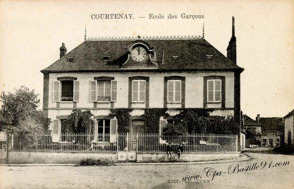 Carte Postale Ancienne de Courtenay - Ecole des Garçons