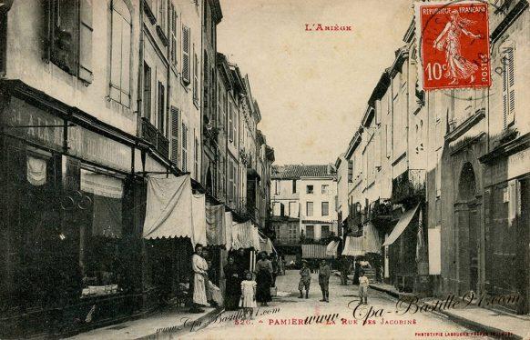 Carte Postale Ancienne de Pamiers - La Rue des Jacobins
