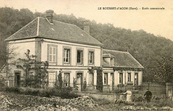 Carte Postale Ancienne - Le Rousset d'Acon - Ecole communale