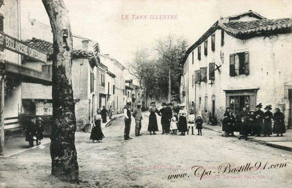 Carte postale Ancienne - Tarn illustré - Lafenasse prés Réalinont rue Principale