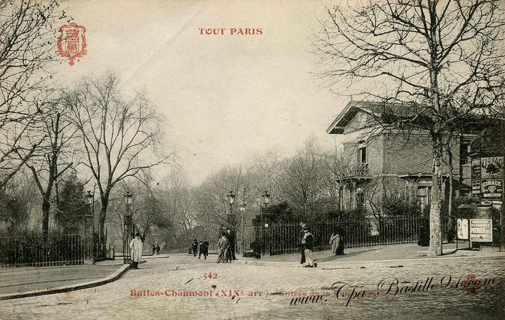 Carte Buttes Chaumont.Carte Postale Ancienne Tout Paris Les Buttes Chaumont Cartes
