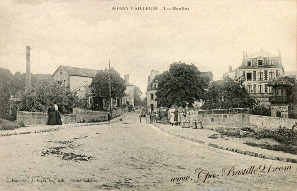 Carte Postale Ancienne de Boissy-l'Aillerie - Les Moulins