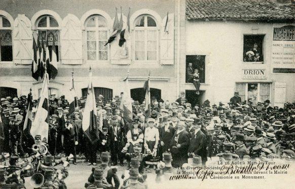 Carte Postale Ancienne de Mars-la-tour le 16 Août 1910