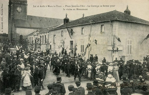Carte Postale Ancienne de Mars-la-Tour - place Jeanne d'Arc