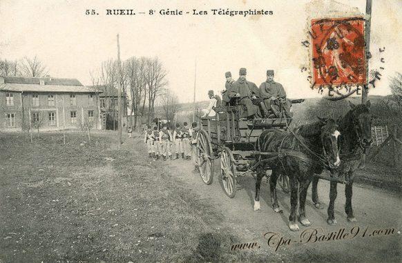 Carte Postale Ancienne - Rueil - 8éme Génie - Les Télégraphistes
