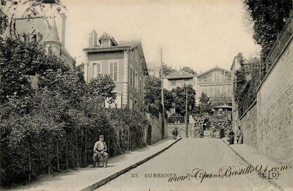 Carte Postale Ancienne - Suresnes Rue Desbassayns
