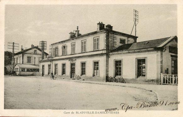 Carte Postale Ancienne de la Gare de Blainville Damelevières