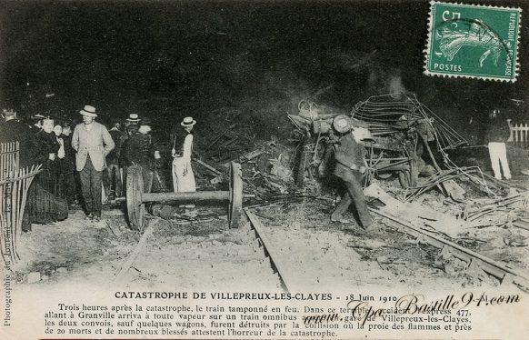 Carte Postale Ancienne de la catastrophe de Villepreux les Clayes le 18 juin 1910