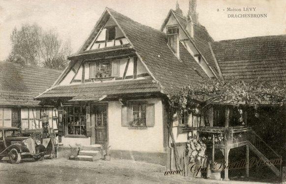 Carte postale Ancienne de la Maison LEVY à DRACHENBRONN