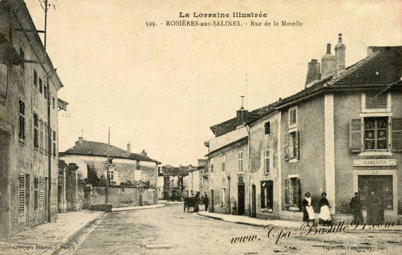 La Lorraine Illustrée - Rosières aux Salines - La Rue de la Moselle