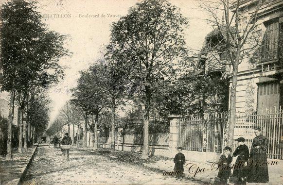 Châtillon le Boulevard de Vanves à la belle époque