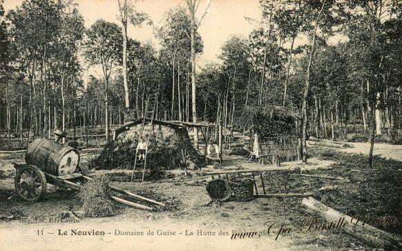 CPA - Le Nouvion - Domaine de Guise - La Hutte des Bucherons à la belle époque