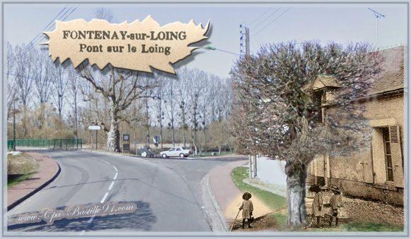 Fontenay sur Loing - Pont sur le Loing l'Avenue de la République d'hier à Aujourd'hui