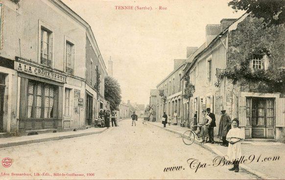Carte Postale Ancienne de la ville de Tennie dans la Sarthe
