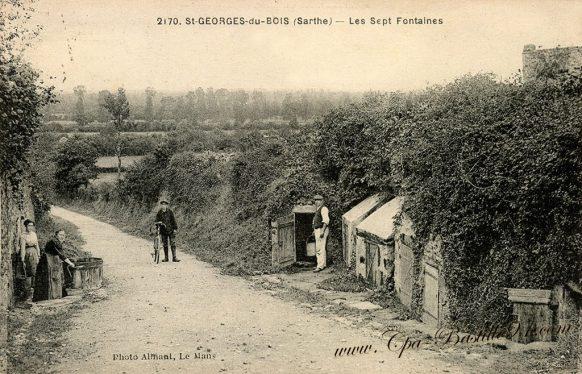 Carte Postale Anciennes de saint Georges du Bois - Les sept Fontaines