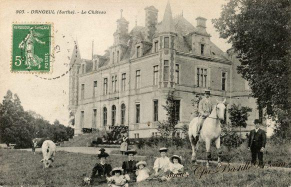 Carte Postale Ancienne du château de Dangeul