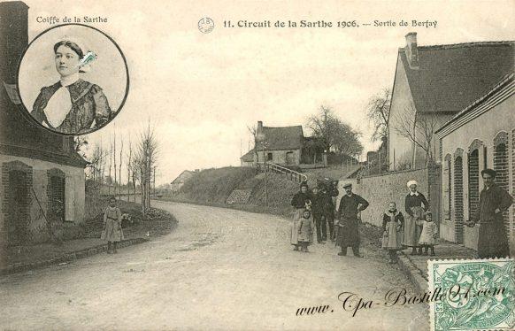 Cartes Postales Anciennes - Le circuit de la Sarthe en 1906 - Sortie de Berfay