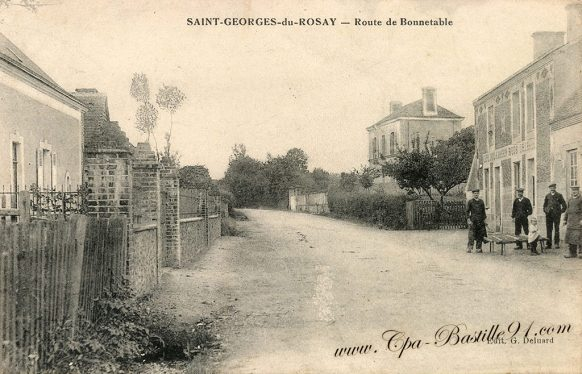 Cartes postales Anciennes - Saint-Georges du Rosay - Route de Bonnetable